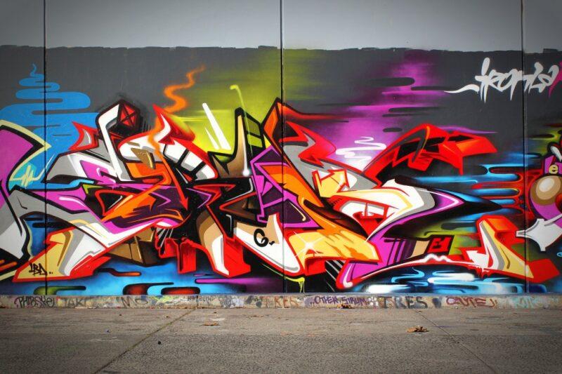 sirum graffiti wall art