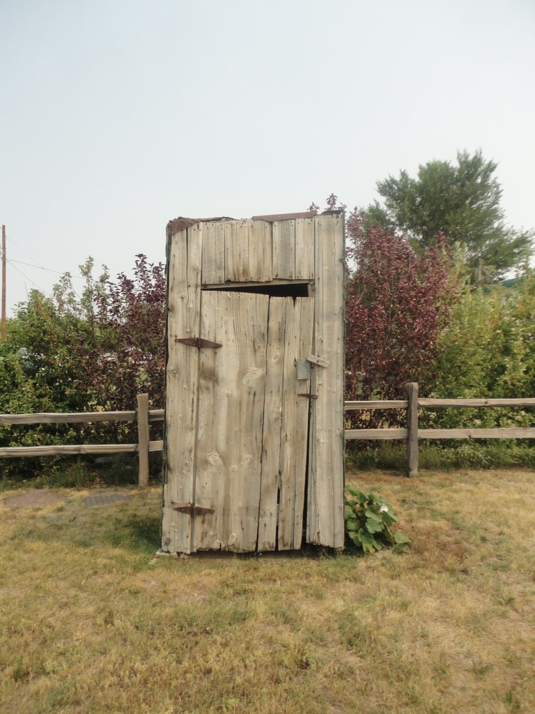 Authentic outhouse!