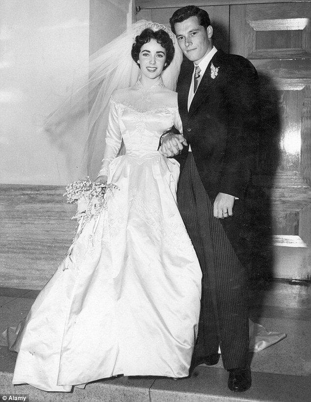 Wedding Dresses & 7 Grooms of Elizabeth Taylor
